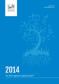 2014 Legatum Prosperity Index Report